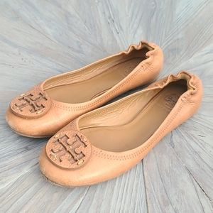 Tory Burch Tan leather flats